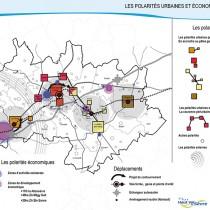 Les polarités économiques et urbaines du SCOT